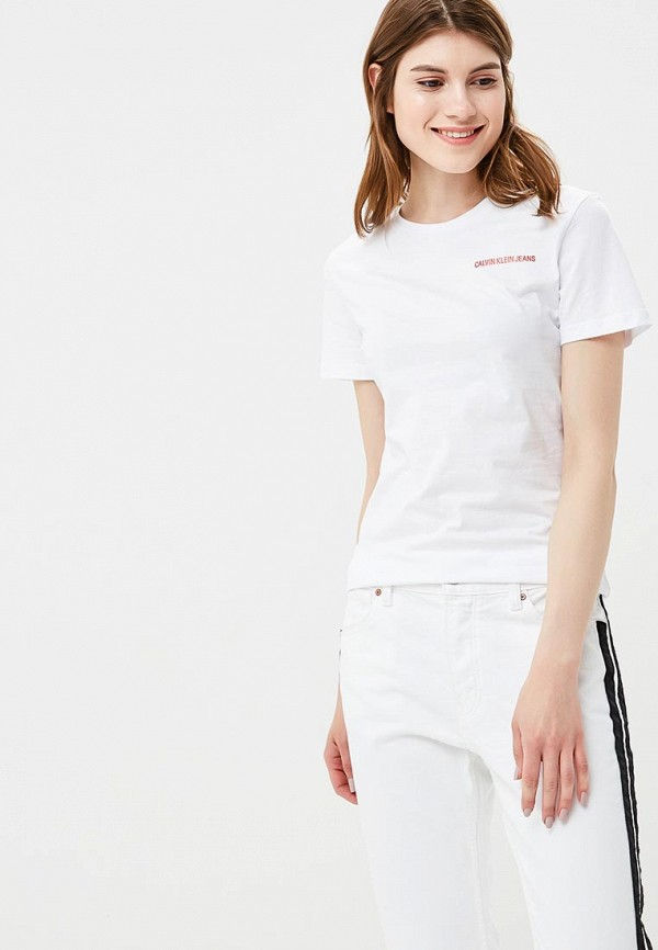 Футболка Calvin Klein Jeans, CA939EWBRKC2, белый, Весна-лето 2018  - купить со скидкой
