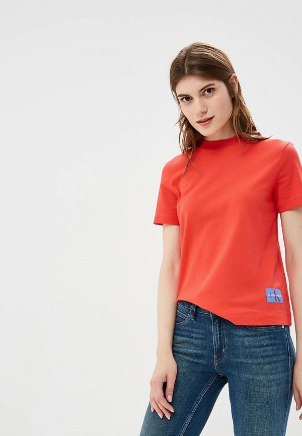Купить Футболка Calvin Klein Jeans, CA939EWBTHQ7, красный, Осень-зима 2018/2019