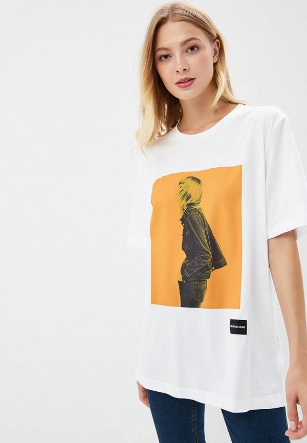 Купить Футболка Calvin Klein Jeans, CA939EWBTHR0, белый, Осень-зима 2018/2019