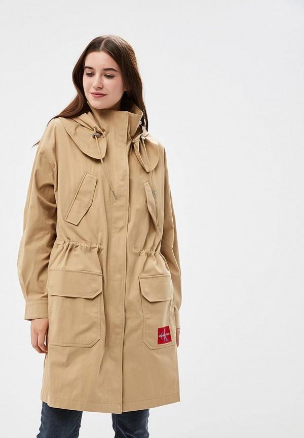 Купить Парка Calvin Klein Jeans, ca939ewbthr7, бежевый, Осень-зима 2018/2019