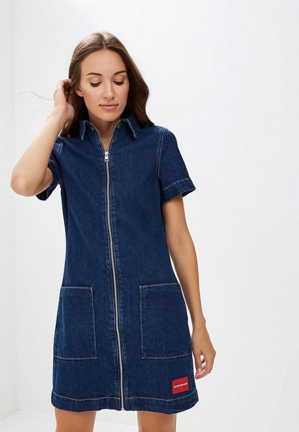 Платье джинсовое Calvin Klein Jeans Calvin Klein Jeans CA939EWBTHS7 платья calvin klein платье