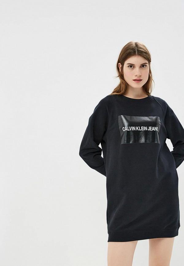 Купить Платье Calvin Klein Jeans, ca939ewbths8, черный, Осень-зима 2018/2019