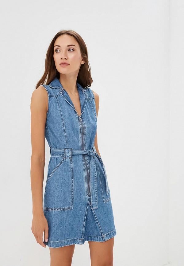 Платье джинсовое Calvin Klein Jeans Calvin Klein Jeans CA939EWBTHT6 платья calvin klein платье