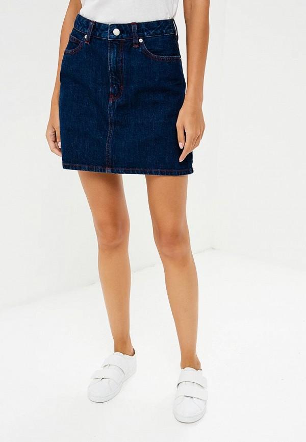 Купить Юбка джинсовая Calvin Klein Jeans, ca939ewbthu1, синий, Осень-зима 2018/2019