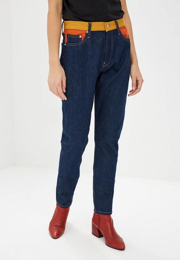женские прямые джинсы calvin klein, синие