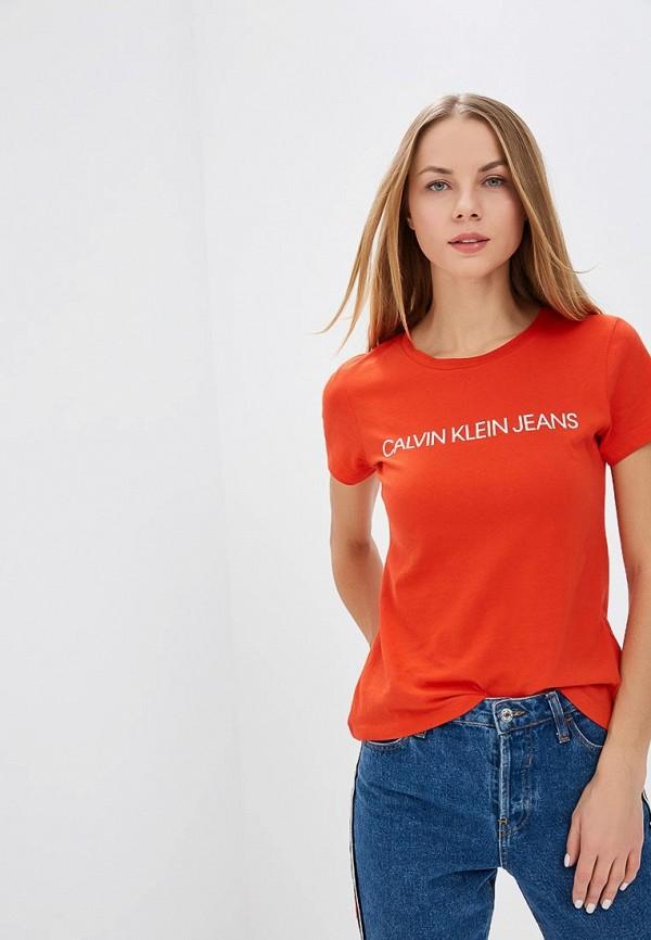Купить Футболка Calvin Klein Jeans, ca939ewbtik7, красный, Осень-зима 2018/2019