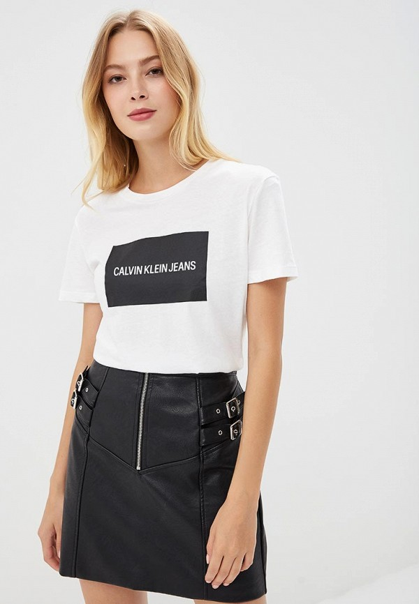 Купить Футболка Calvin Klein Jeans, ca939ewbtil0, белый, Осень-зима 2018/2019