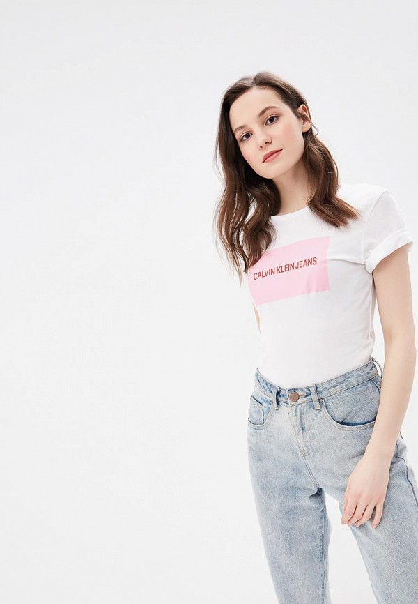 Футболка Calvin Klein Jeans Calvin Klein Jeans CA939EWBTIL0 футболка calvin klein jeans calvin klein jeans ca939ewbthq7