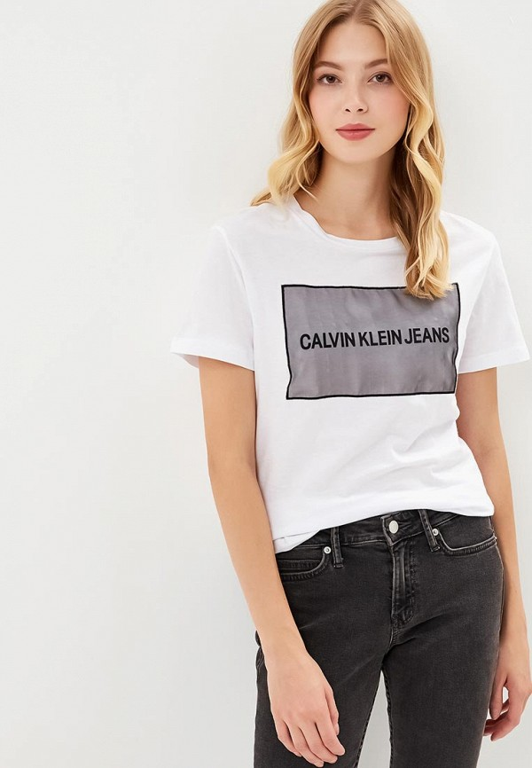 Футболка Calvin Klein Jeans Calvin Klein Jeans CA939EWBTIL5 свитшот calvin klein jeans calvin klein jeans ca939ewzjs33