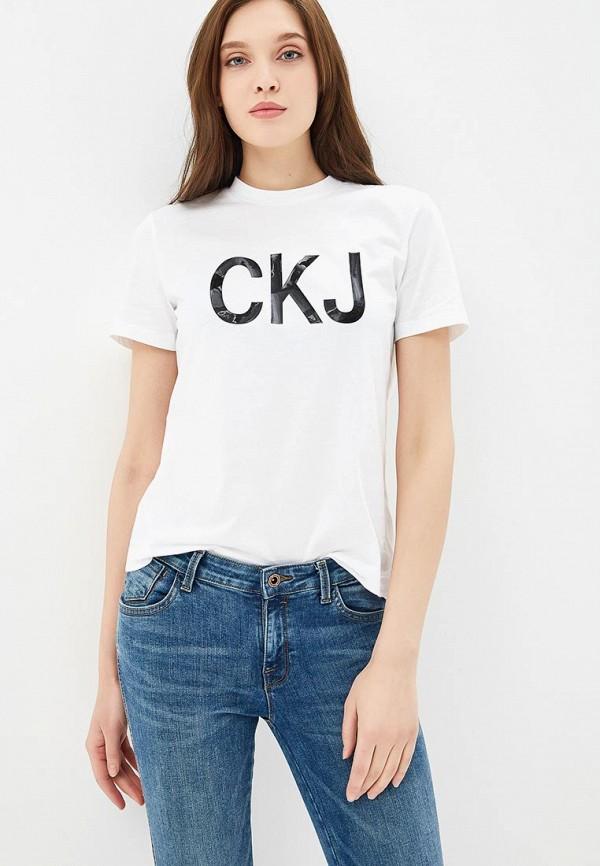 Футболка Calvin Klein Jeans Calvin Klein Jeans CA939EWBTIM0 calvin klein jeans футболка поло calvin klein jeans j3ij3 03425 0840
