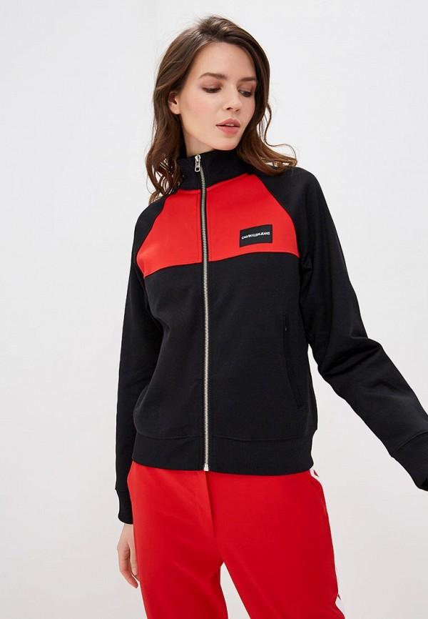 Купить Олимпийка Calvin Klein Jeans, ca939ewdues6, черный, Весна-лето 2019