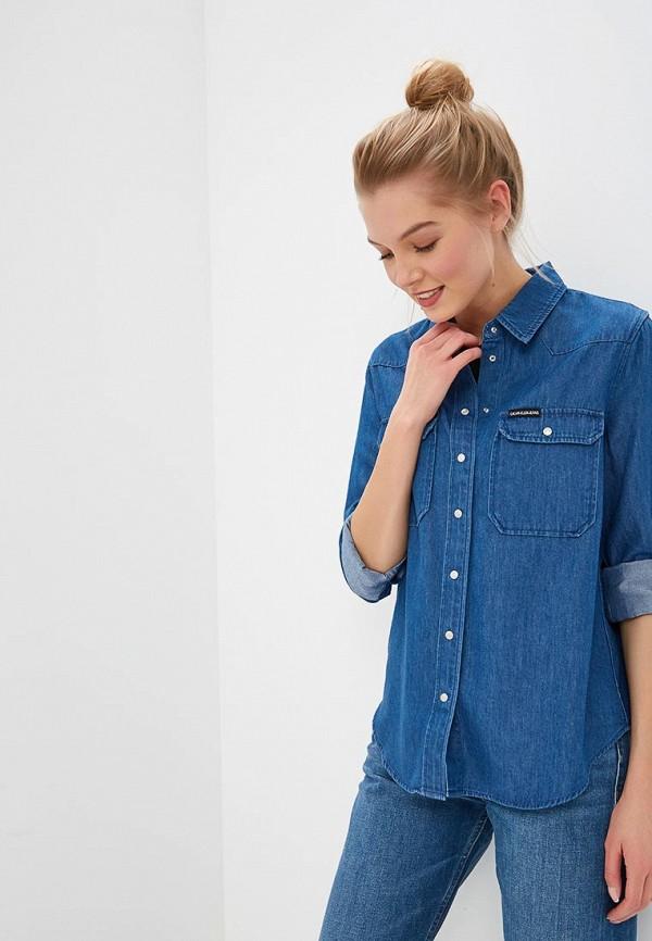 Рубашка джинсовая Calvin Klein Jeans Calvin Klein Jeans CA939EWDUEU4 рубашка женская calvin klein jeans цвет синий j20j209111 9110 размер xs 40 42