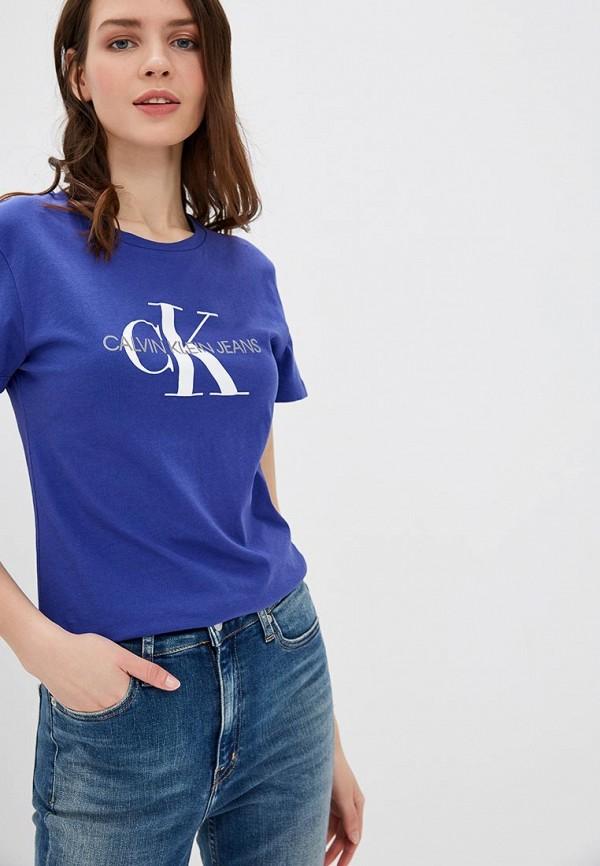 Купить Футболка Calvin Klein Jeans, ca939ewduex5, синий, Весна-лето 2019