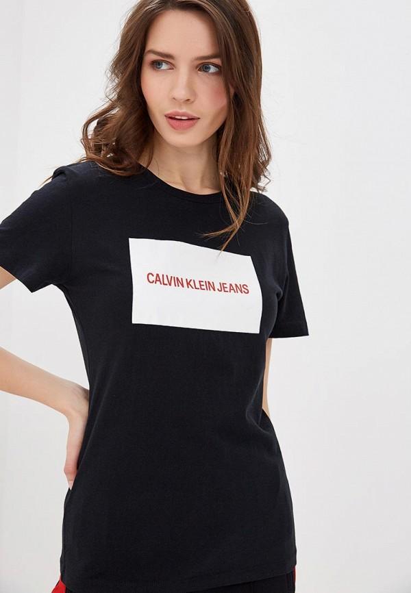 Футболка Calvin Klein Jeans, ca939ewduex7, черный, Весна-лето 2019  - купить со скидкой