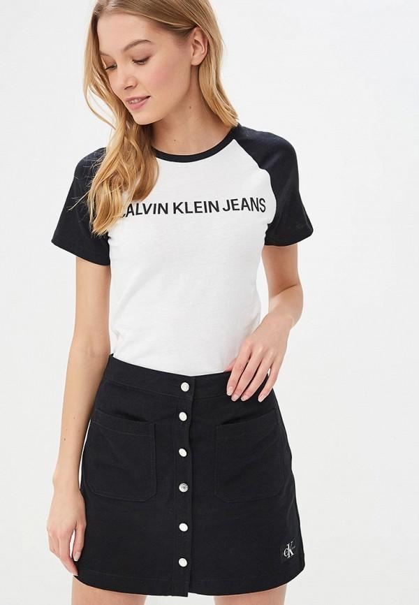 Футболка Calvin Klein Jeans Calvin Klein Jeans CA939EWDUEY4 бейсболка calvin klein jeans calvin klein jeans ca939cwducv0