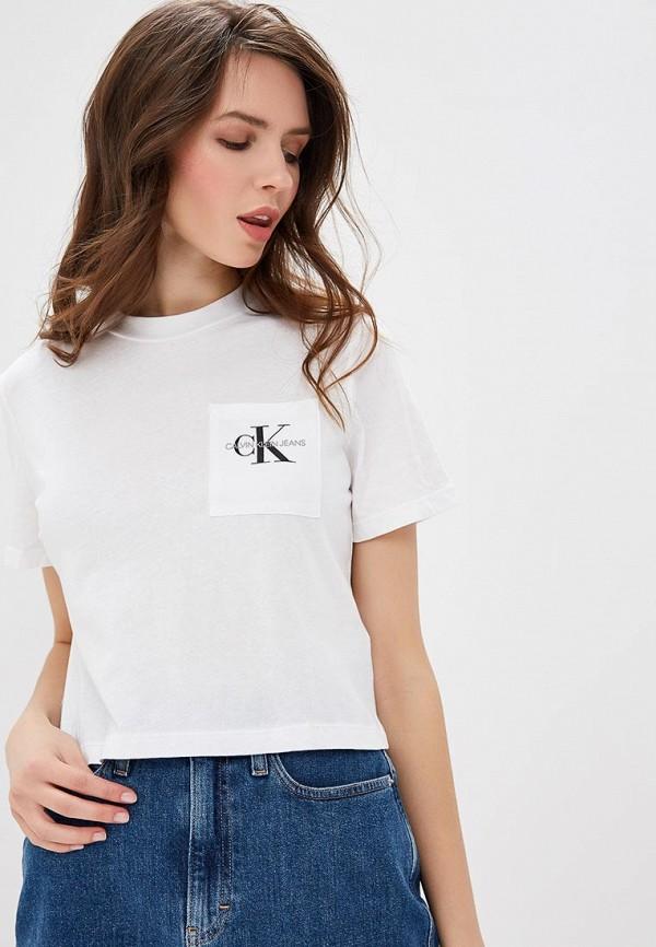 Футболка Calvin Klein Jeans Calvin Klein Jeans CA939EWDUEZ5 футболка calvin klein jeans calvin klein jeans ca939ewbthq7