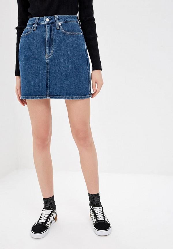 Юбка джинсовая Calvin Klein Jeans Calvin Klein Jeans CA939EWDUFC0