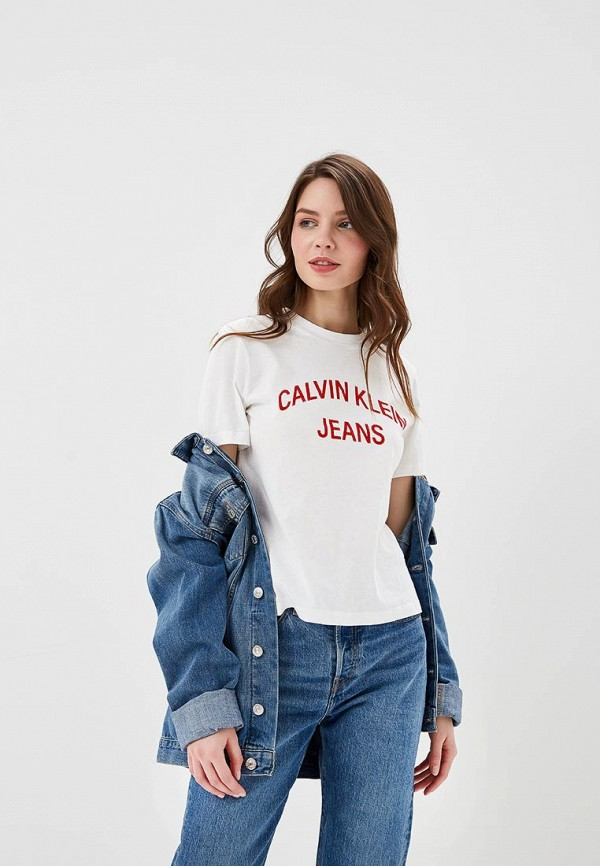 Футболка Calvin Klein Jeans Calvin Klein Jeans CA939EWETIS6 футболка calvin klein jeans calvin klein jeans ca939emapqx8