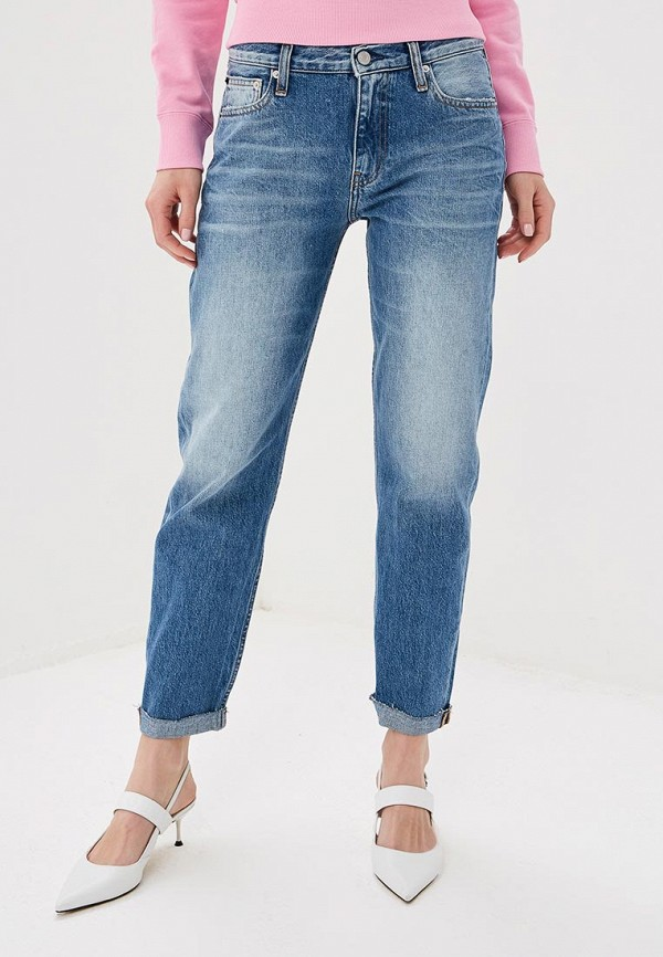 Джинсы-бойфренды Calvin Klein Jeans
