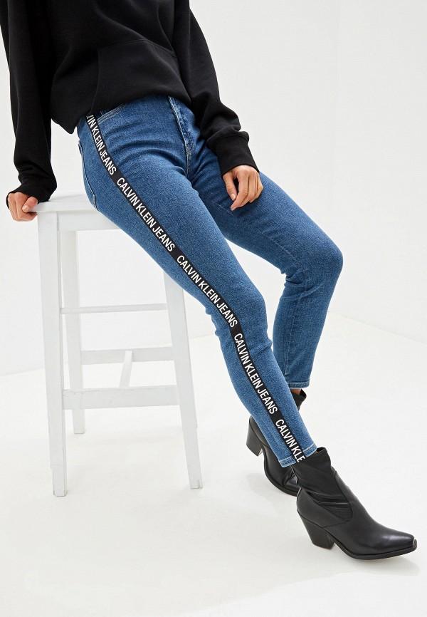 женские джинсы calvin klein, синие
