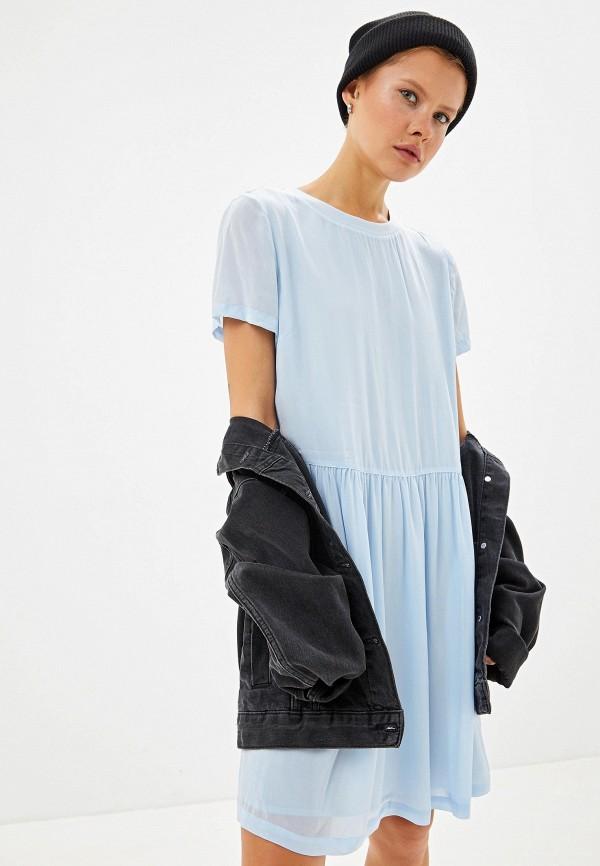 Фото - Женское платье Calvin Klein Jeans голубого цвета