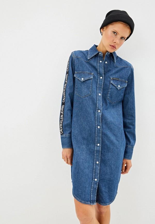 Платье джинсовое Calvin Klein Jeans Calvin Klein Jeans CA939EWFQXD7 платье calvin klein jeans calvin klein jeans ca939ewetiw9