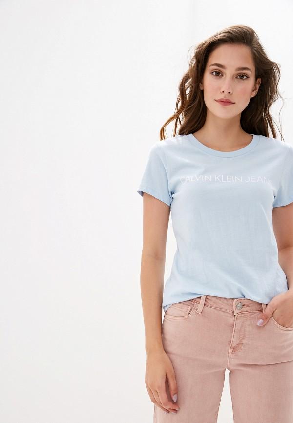 Футболка Calvin Klein Jeans Calvin Klein Jeans CA939EWFQXF6 цена 2017