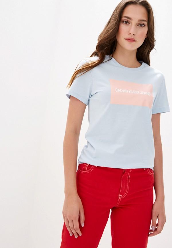 Футболка Calvin Klein Jeans Calvin Klein Jeans CA939EWFQYA2 футболка calvin klein jeans calvin klein jeans ca939ewetit4