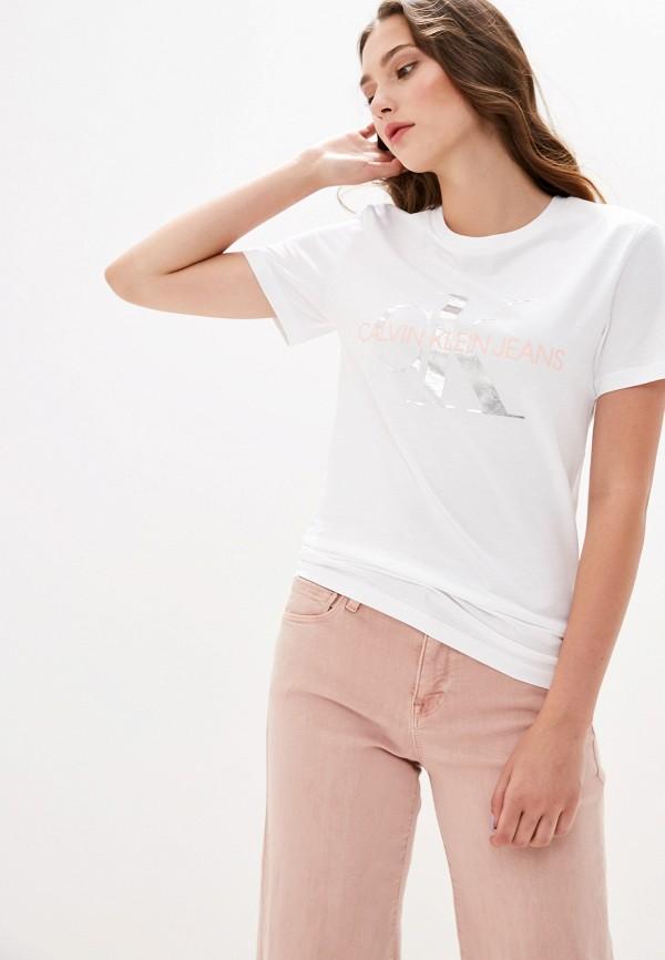 Футболка Calvin Klein Jeans Calvin Klein Jeans CA939EWFQYA4 футболка calvin klein jeans calvin klein jeans ca939ewetit4