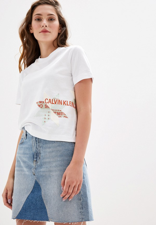 Футболка Calvin Klein Jeans Calvin Klein Jeans CA939EWFQYA8 цена 2017