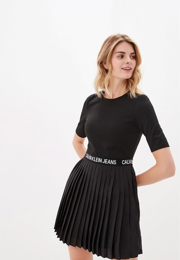 Платье Calvin Klein Jeans Calvin Klein Jeans CA939EWFQYX8 платье calvin klein jeans calvin klein jeans ca939ewetiw9