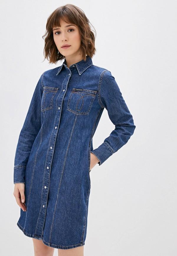 Платье джинсовое Calvin Klein Jeans Calvin Klein Jeans CA939EWFQYZ2