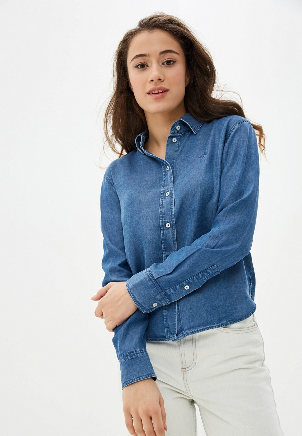 Рубашка джинсовая Calvin Klein Jeans Calvin Klein Jeans CA939EWHPYB3 куртка джинсовая calvin klein calvin klein ca105ewegsi9