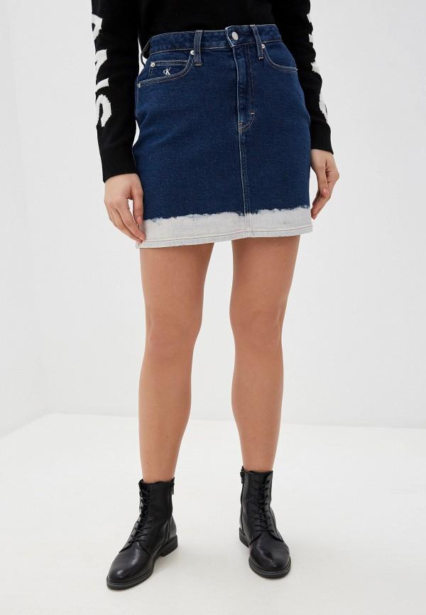 Юбка джинсовая Calvin Klein Jeans Calvin Klein Jeans CA939EWHPYZ7 куртка джинсовая calvin klein calvin klein ca105ewegsi9
