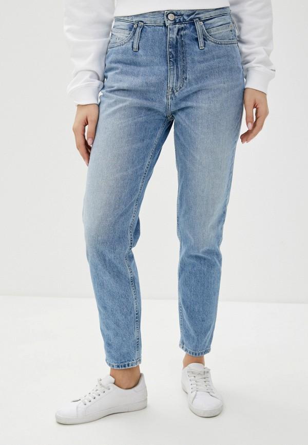 женские джинсы-мом calvin klein, синие