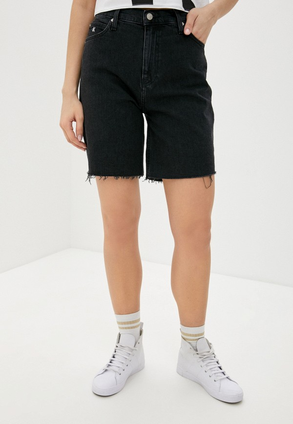 женские джинсовые шорты calvin klein, серые