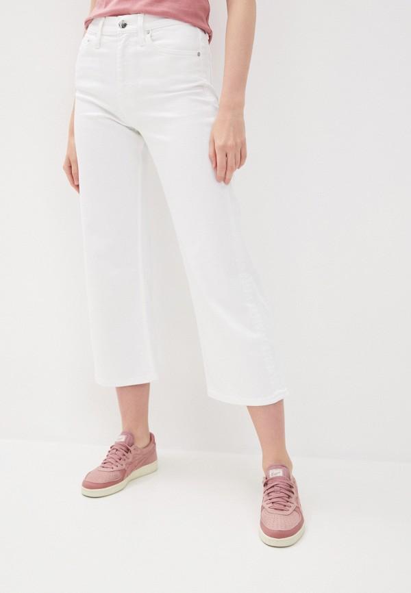 женские джинсы клеш calvin klein, белые