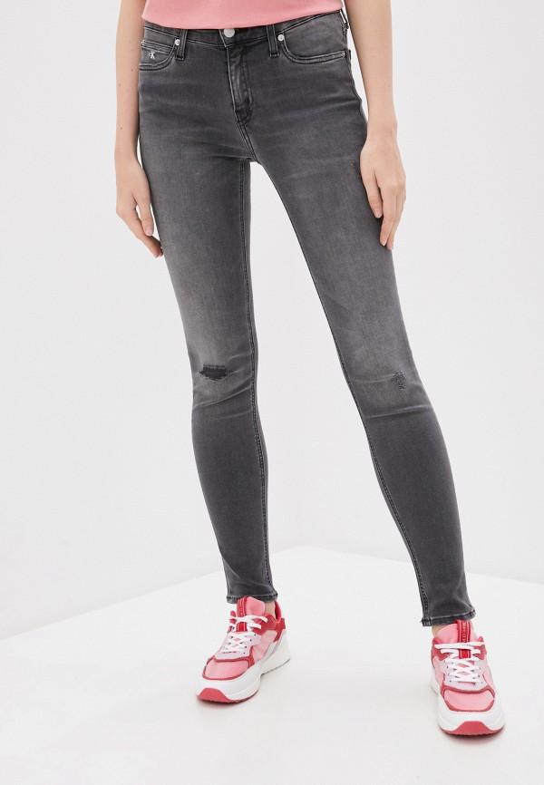 женские джинсы скинни calvin klein, серые