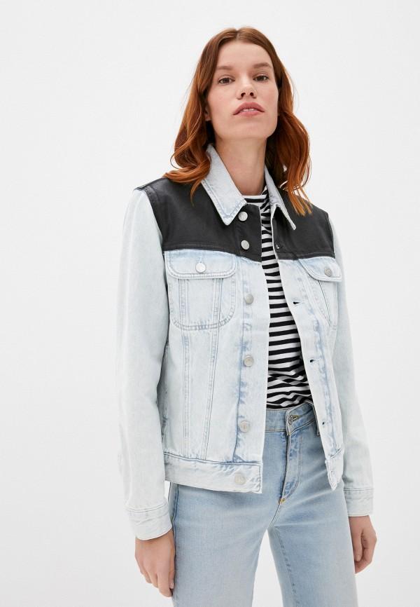 женская джинсовые куртка calvin klein, голубая