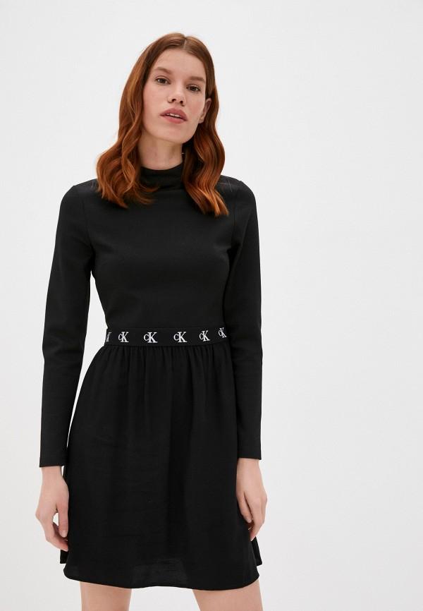 женское повседневные платье calvin klein, черное