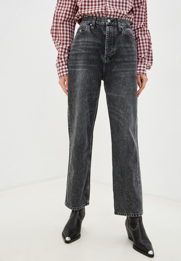 женские прямые джинсы calvin klein, серые