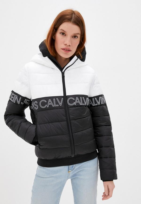 женская утепленные куртка calvin klein, белая