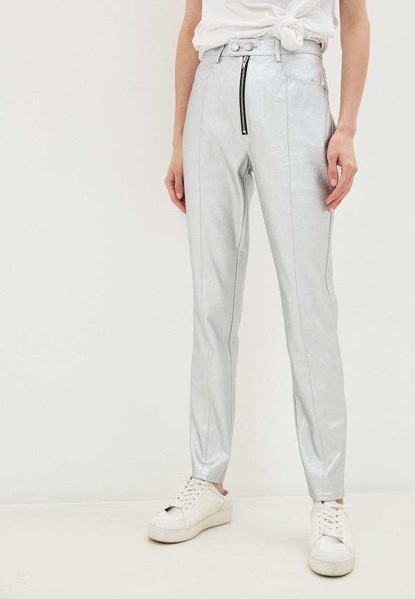 женские брюки calvin klein, серебряные