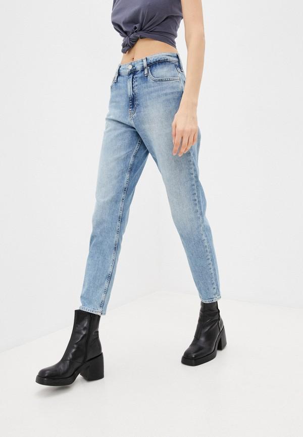 женские джинсы calvin klein, голубые