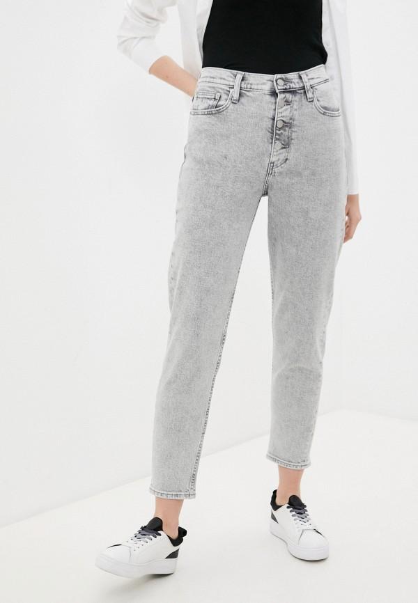 женские джинсы-мом calvin klein, серые