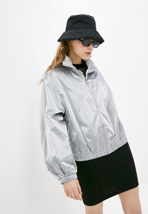 женская легкие куртка calvin klein, серебряная