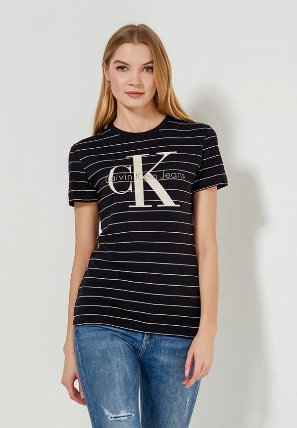 Купить Футболка Calvin Klein Jeans, CA939EWZJS42, черный, Весна-лето 2018