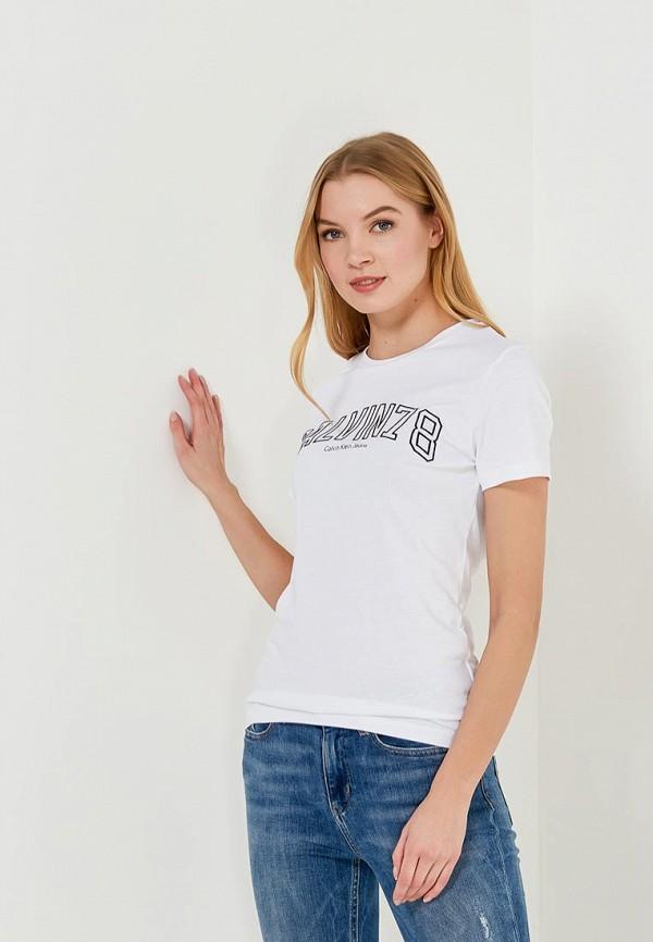 Футболка Calvin Klein Jeans Calvin Klein Jeans CA939EWZJS90 свитшот calvin klein jeans calvin klein jeans ca939ewzjs33