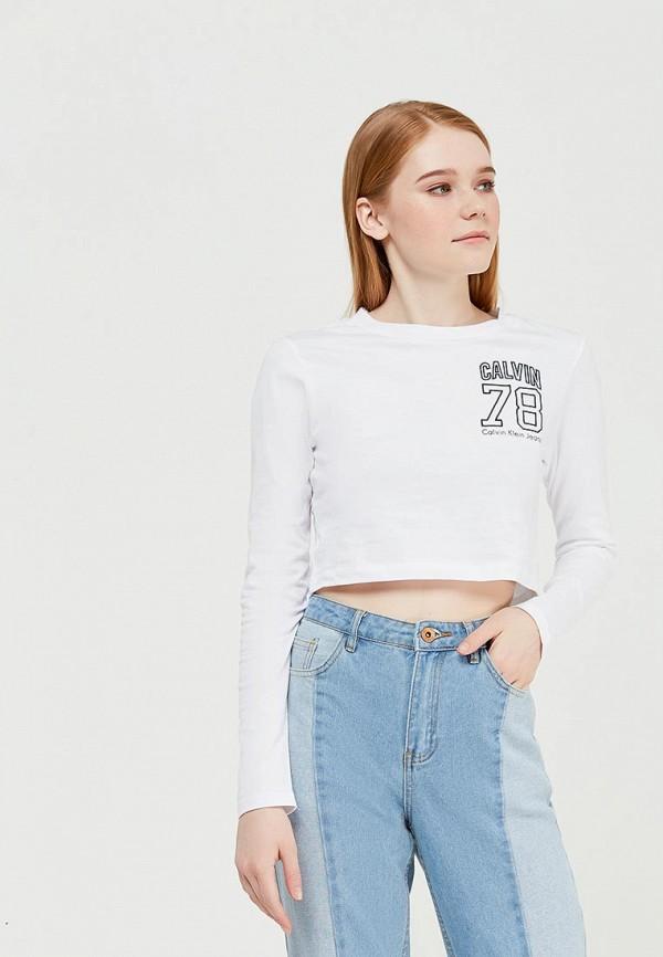 Купить Лонгслив Calvin Klein Jeans, CA939EWZJS92, белый, Весна-лето 2018