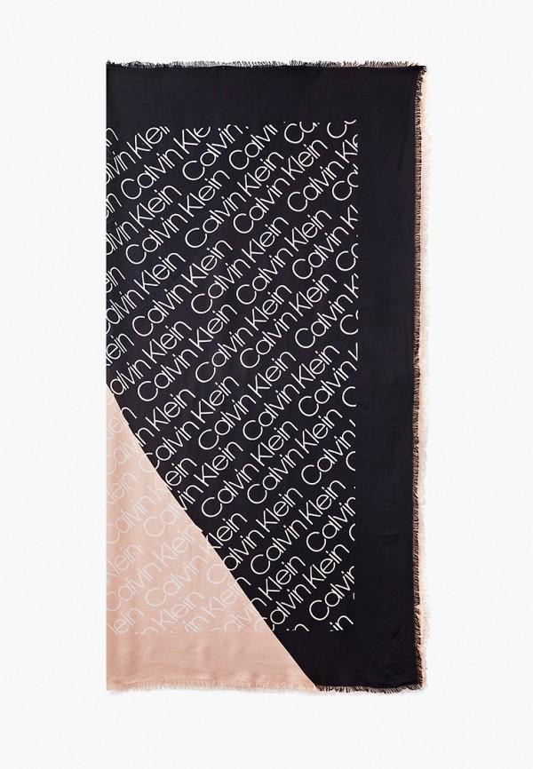 женский платок calvin klein, черный